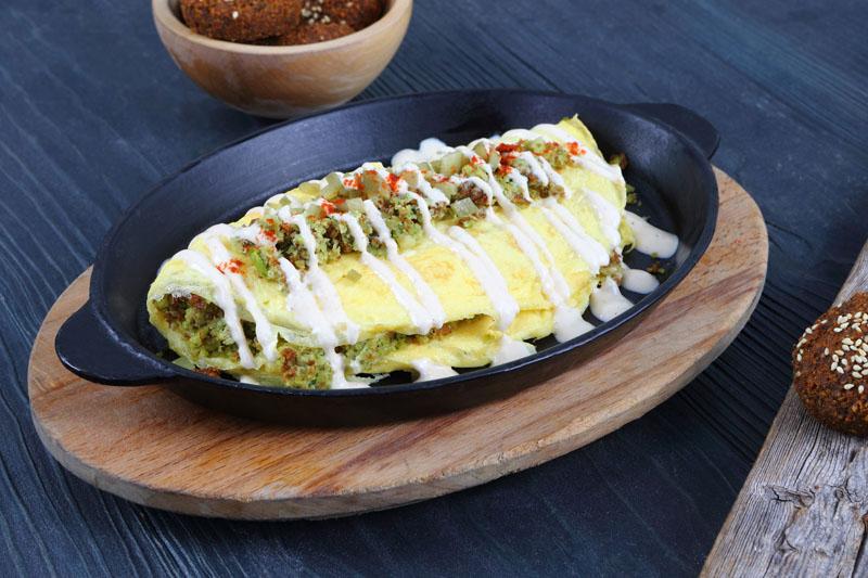 Falafel Omelet